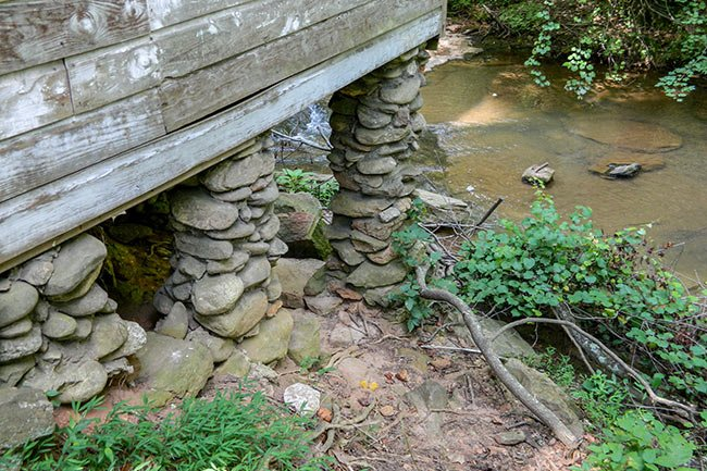 Gilreath's Mill Stone Support Piers