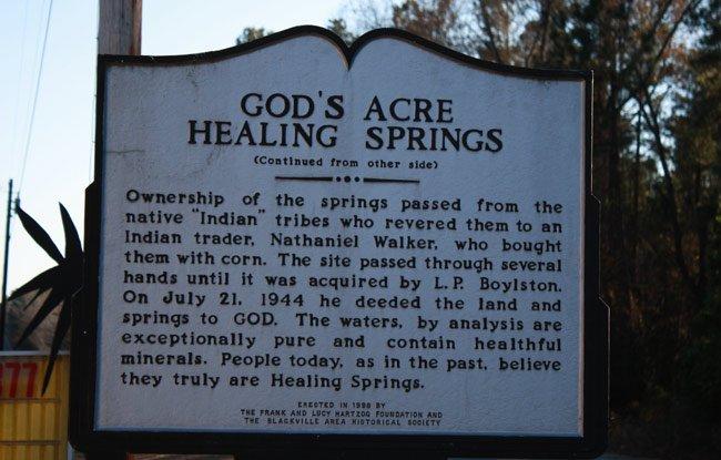God's Acre Historic Marker