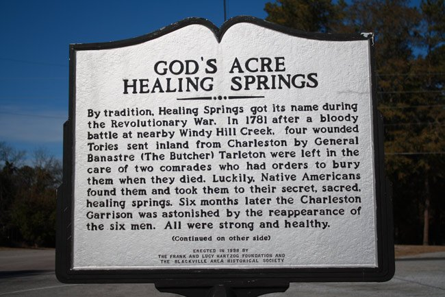 God's Acre Healing Springs Marker