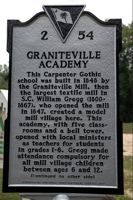 Graniteville Academy Marker