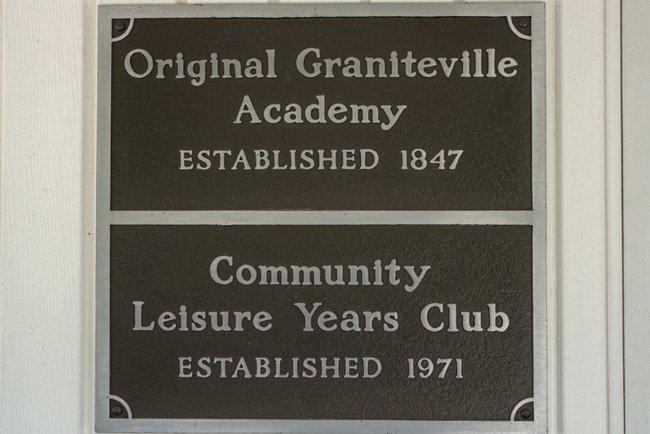 Graniteville Academy Plaque
