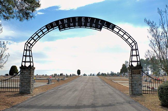 Graniteville Cemetery Entrance