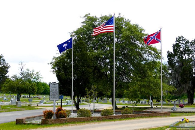 Graniteville Cemetery Flags
