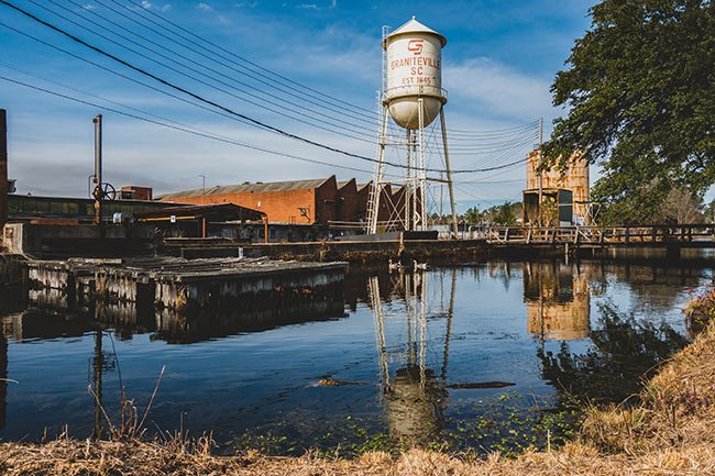 Graniteville Water Tower Reflection
