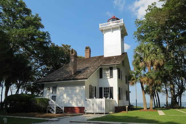 Haig Point Lighthouse, Rear View
