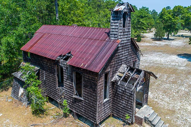 Halfway Creek Church Aerial