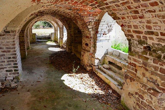 Hampton Plantation Under Porch