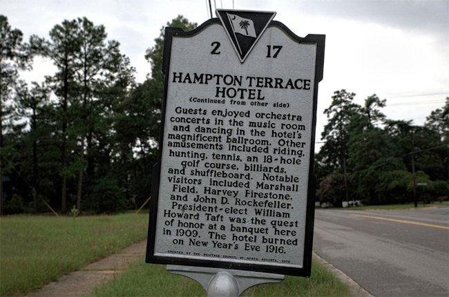 Hampton Terrace Hotel Marker
