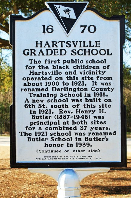 Hartsville Graded School Marker