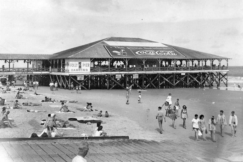 Historic Folly Pier with Coca-Cola Sign
