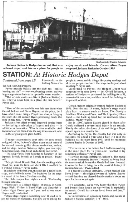 Historic Hodges Depot