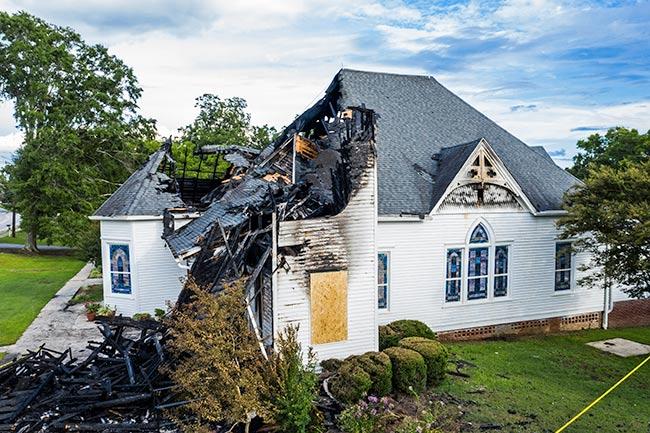 Hodges Presbyterian, Burned Steeple
