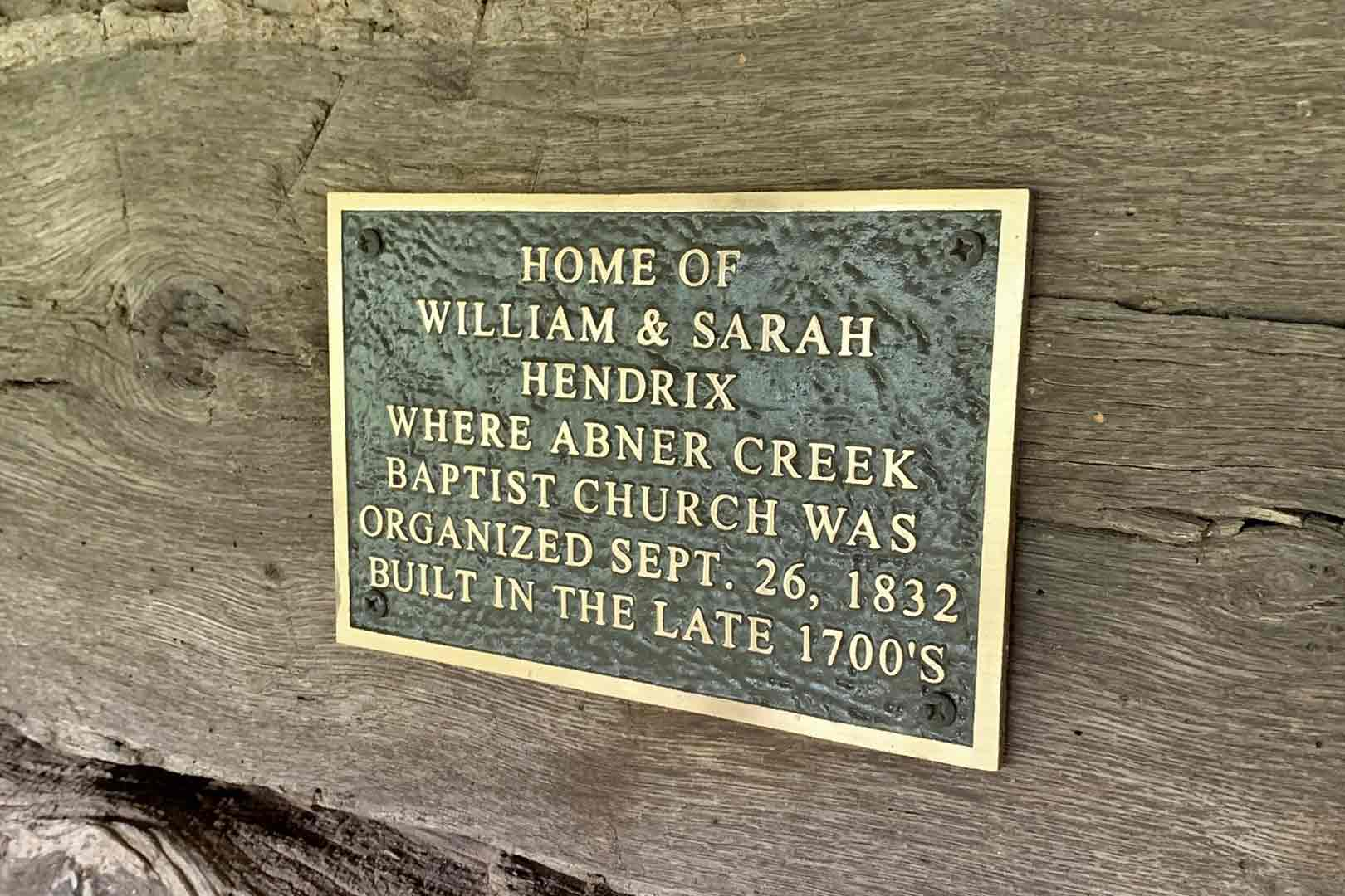 Home of William and Sarah Hendrix