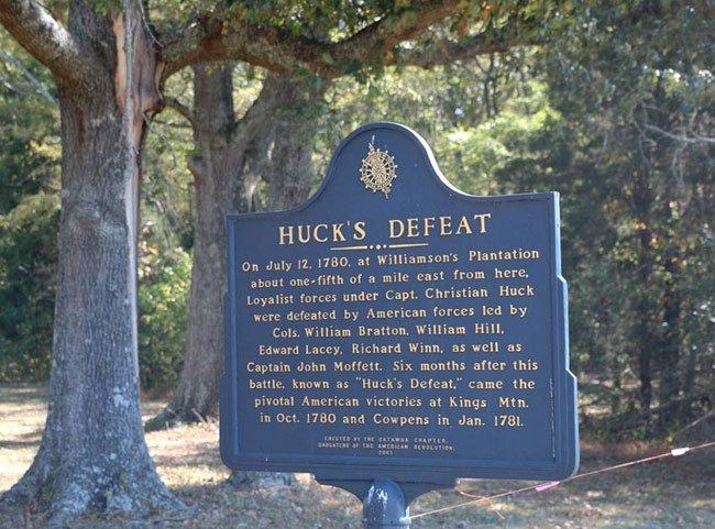 Huck's Defeat Marker