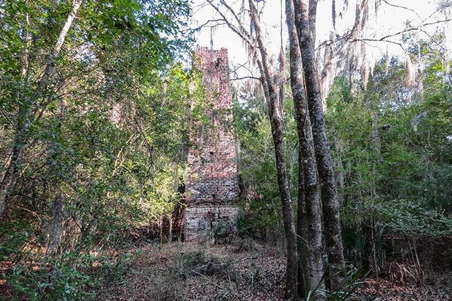 Jehossee Island Rice Mill Chimney