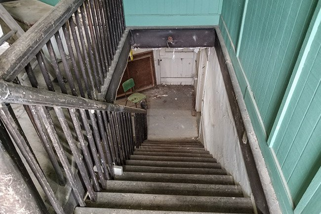 Jehossee Plantation Stairs Looking Down