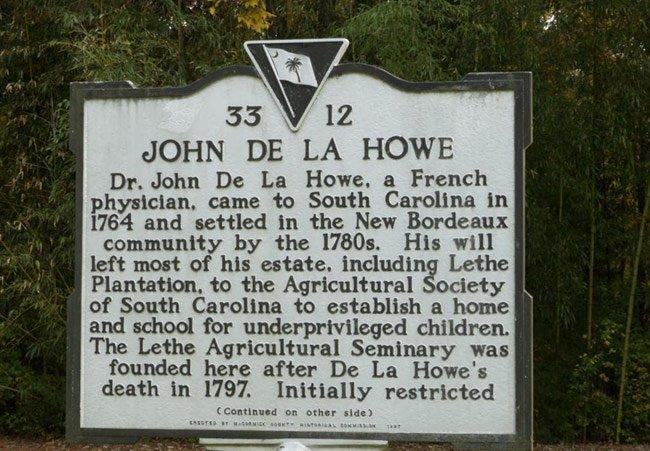 John De La Howe Marker