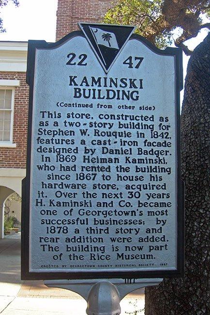 Kaminski Building Marker