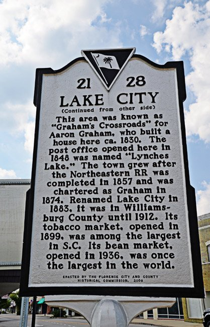 Lake City Marker Back