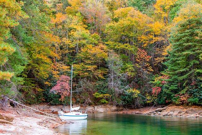 Lake Jocassee During Fall