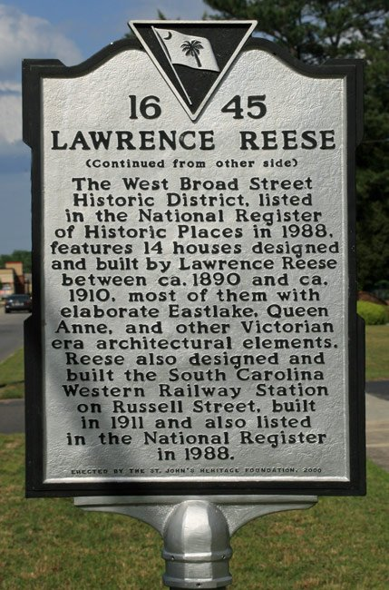 Lawrence Reese Marker Back
