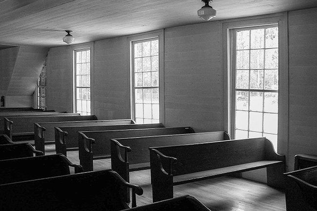 Lower Long Cane Church Pews