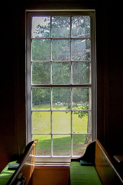 Lower Long Cane Church Window and Pew