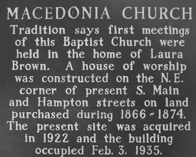 Macedonia Baptist Marker