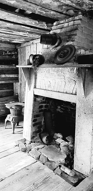 Magnolia Plantation Interior of Slave Cabin