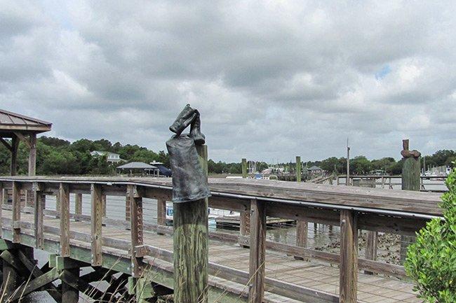 Seaman's Memorial McClellanville Boots Statue