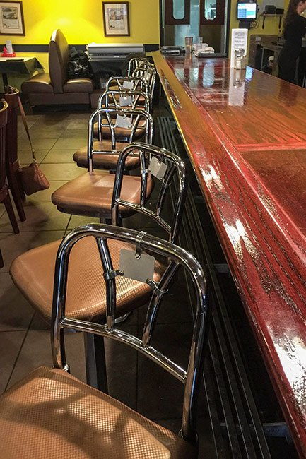 McCrory's Lunch Counter Seating