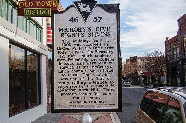 Rock Hill Historic Marker