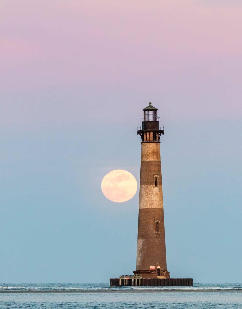 Morris Island Full Moon