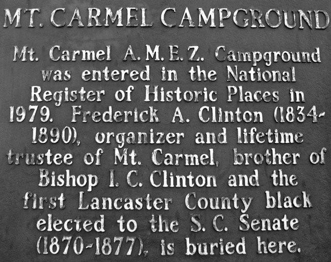 Mt. Carmel Campground Marker Back
