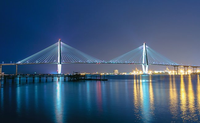Night Scene, Ravenel Bridge
