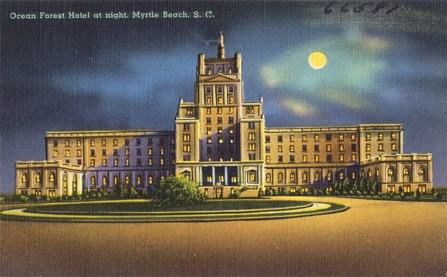 Ocean Forest Hotel Postcard