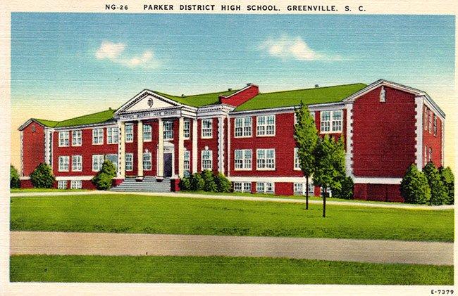 Parker High School Postcard
