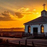 Pawleys Island Chapel at Sunset