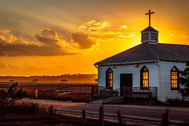 Pawleys Island Chapel at Sunset