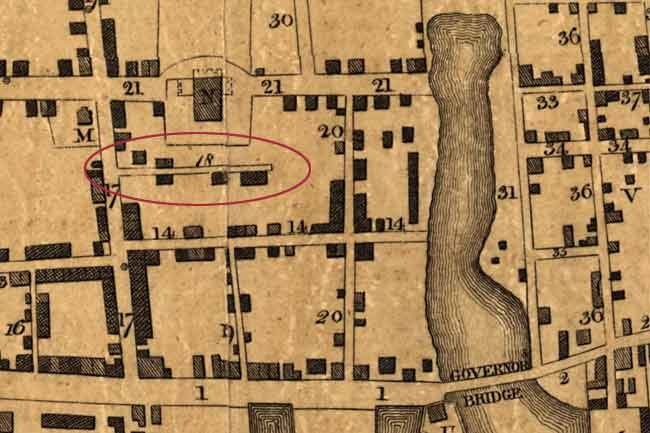 Petrie Map of Kinlcoh Court in Charleston