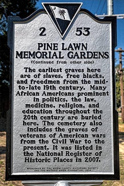 Pine Lawn Cemetery Marker