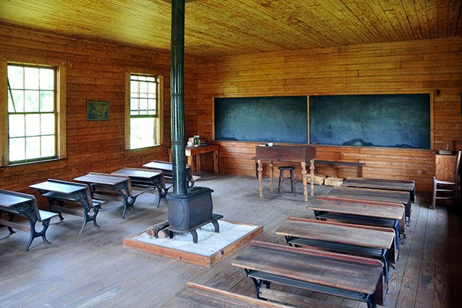 Possum Trot School Interior