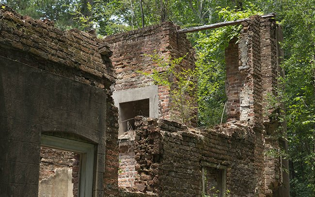 Rear of Comingtee Plantation Ruins