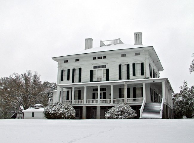 Redcliffe Plantation in the Snow
