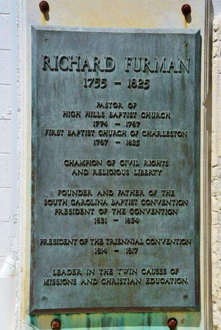 Richard Furman Marker First Baptist