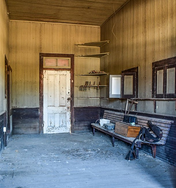 Salters Depot Interior Waiting Room