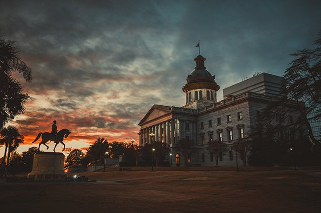 SC State House Sunset