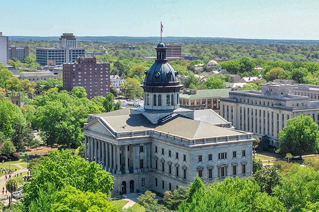 Aerial View of SC Statehouse