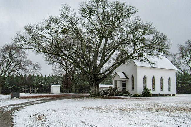 Sharon Church in Snow