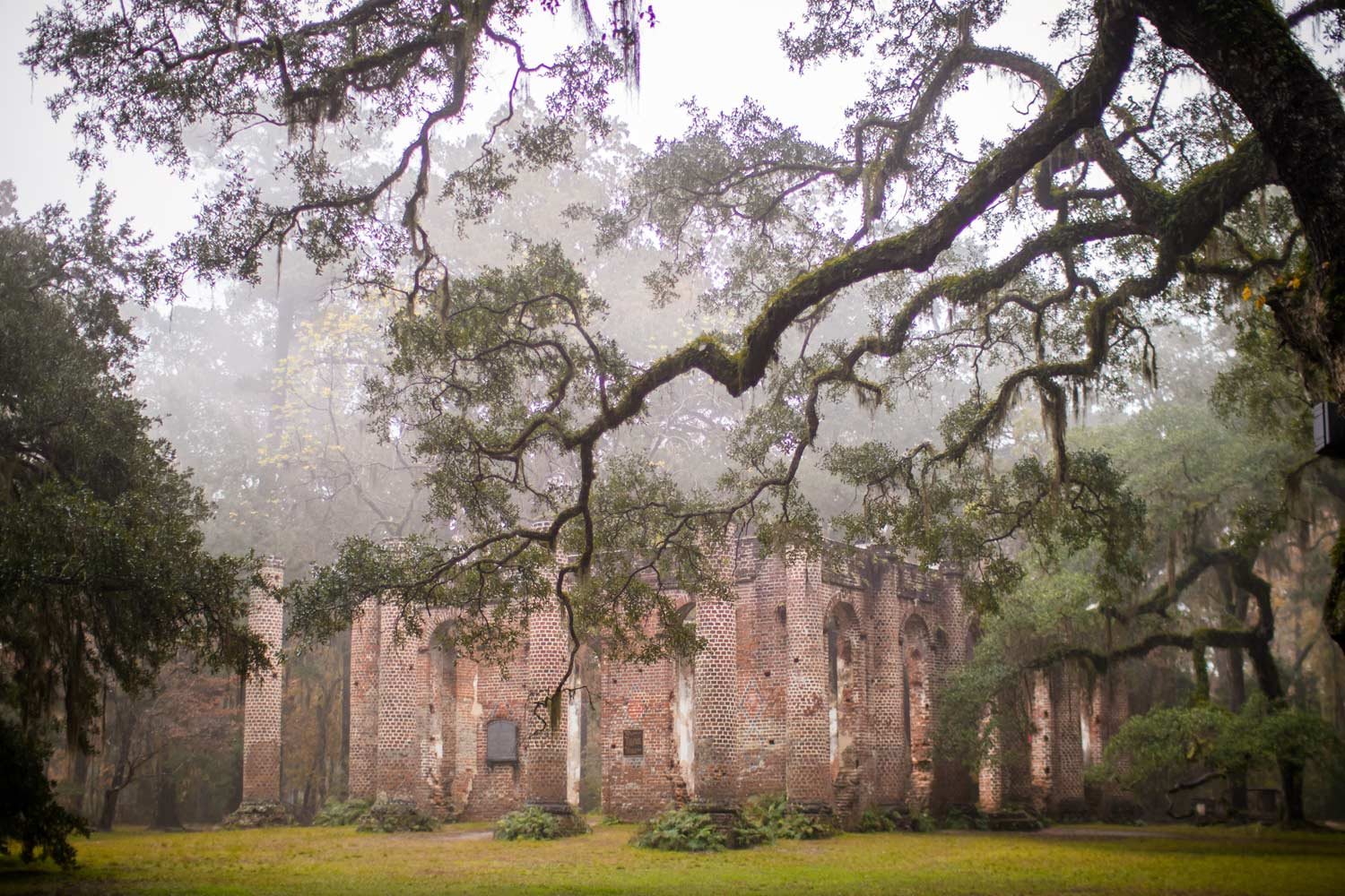 Sheldon Ruins in Fog